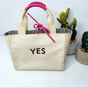 kate spade Yes No Canvas Handbag
